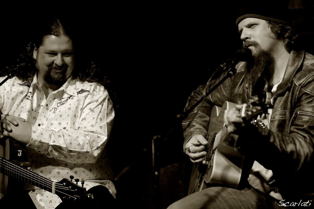 Jamey Johnson and myself doing a show back when his beard was just a baby.